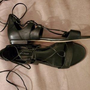 NWT, Black, Gladiator Sandals, Size 8